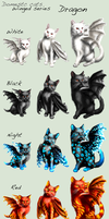 Adopt Cats -Winged series, Dragon- by elen89