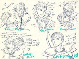 FE9/10 Pairings and Castor alone lol by Meibatsu