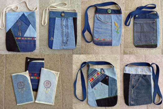 More Denim Upcycles by magpie-poet