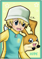 T.K. and Patamon by Km92