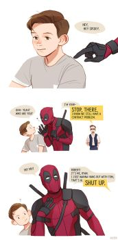 hey spidey by Hallpen