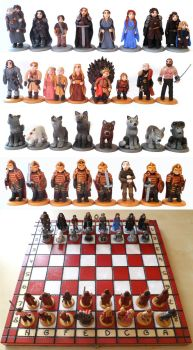 Game of Thrones chess set by EldalinSkywalker
