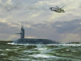 Trident Submarine: Sea Trials 1987 by zulumike