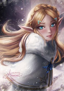 Winter Zelda by Axsens