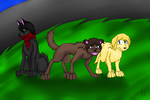 Attack on Canine: Main Trio by rexyplexy