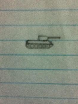 Tiny T-34 drawing by LivingSoviet