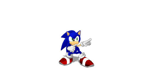Just showin Sonic off by jetknight