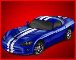 Dodge Viper Sketch Color by MarcusMcCloud100