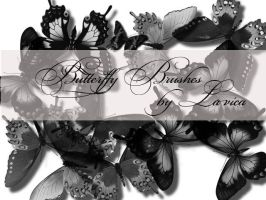 Butterfly Brushes Set 1 by Lavica-Photoshop