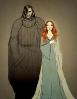 Sandor and Sansa - sketch by Emmanation