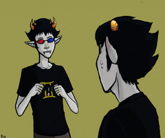 Karkat and Sollux by Lamia-Forte