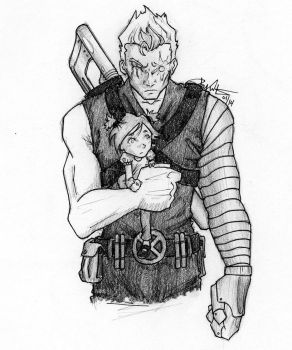 Cable and Hope by chrysalisgrey