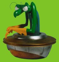 Zorak from Space Ghost sculpture by BaRs0m