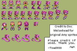 Sonic CD Amy Sprite Edits by Toad900