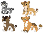 Cubs for Saphia-xeno cubs by kopaisfluffy