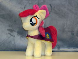 Apple Bloom with her cape by RazielleDbx