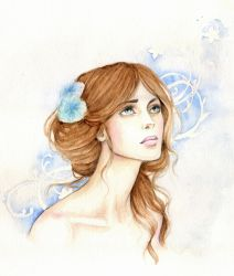 The Lady of the Blue Camellias by Achen089