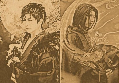 GACKT as two ancient beautiful heroes by anhdears