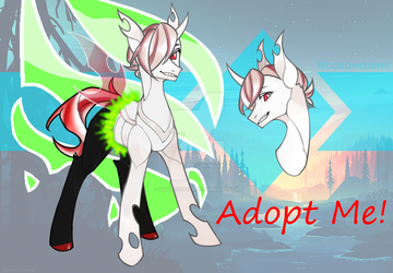 [CLOSED] Albino Changeling Adopt by InkyNotebook