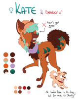 Kate and Sharky reference sheet 2016 by Kalibeak
