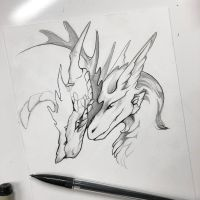 Dragon Nuzzles by Lucky978
