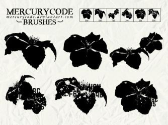 Brushset 11: abstract flowers by mercurycode