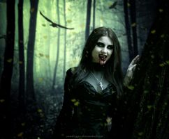 Emerald Forest Vampire III by SamBriggs