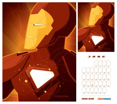 nicktoons: iron man by strongstuff