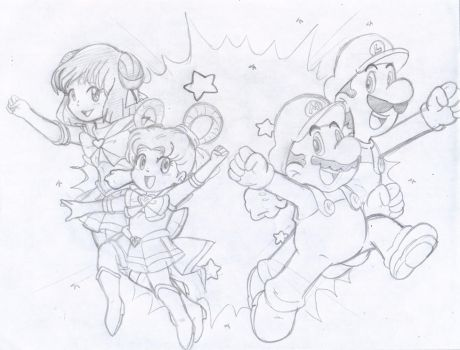 Commish: Super Sailor team up by Nintendrawer