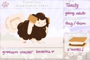 flufferbun reference sheet: toasty by IsolatedPsycho
