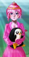Tons of cuteness, Bubblegum and a penguin. by nightcat93