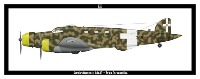 Savoia-Marchetti SM.84 by PsykoHilly