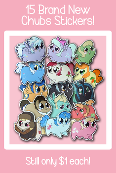 15 New Chubs Stickers! by FrogAndCog
