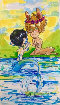 Free! (AU): By the river.  by cynderandspyrorocks