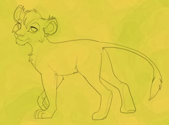 Female Lioness Line-art for purchase by Kitchiki