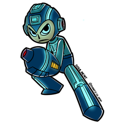 Megaman 30th Collab Entry: Megaman (Universe) by Soulment