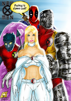 X-Men Colorjob with Deadpool by BouncieD