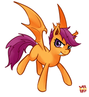 Scootaloo Bat by norang94