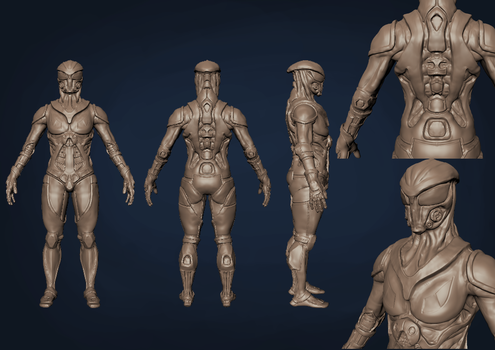 Exo suit WIP by Gillimusprime