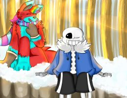 Poxy and Sans .:Request:. by Aggablaze
