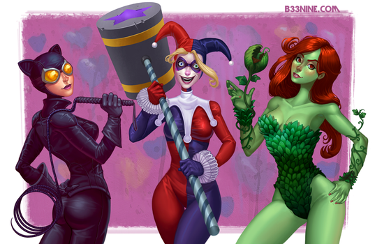 Batman Bad Girls by b-nine
