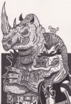 Bebop and Rocksteady by XenoTeeth3