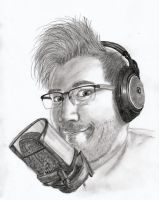 Markiplier with microphone by BarikaH