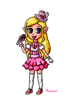 N-Pop Idol Collab-Toon Zelda by ninpeachlover
