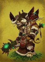 Tauren Druid by pokketmowse