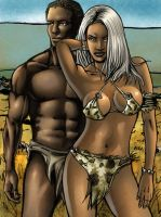 Ororo and T Challa by Remixion