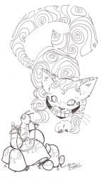 sketchy: Cheshire Cat by KidNotorious