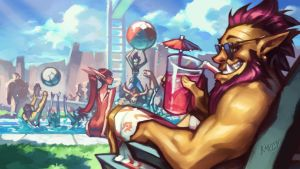 Warcraft POOL PARTY promo by KNKL