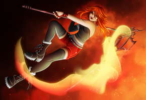 The Flaming Reaper by Hellyon-Works