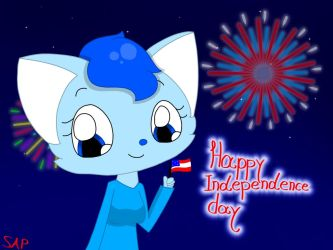 Happy Independence day 2018 by Starlightarcticpaws